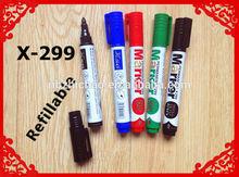 XSG ink refillable whiteboard marker pen ,pvc bag packing