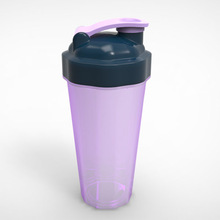 Promotion Item 600ML Protein PP bpa free custom shaker top bottles cup With Wire Whisk Ball
