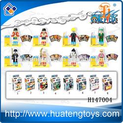 Plastic toy one piece figure minifigure bricks plastic one piece toys action figures blocks H147004