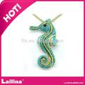 Bijoux fantaisie cristal d'hippocampe collier à pendentif