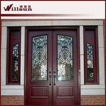 Principal de entrada de puerta puerta de hierro forjado puertas