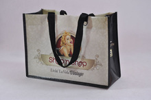 fashional long handle pp woven bag /large pp non woven shopping bag /laminated pp woven bag for feed