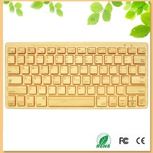 innovative design wireless bamboo bluetooth keyboard in orange color