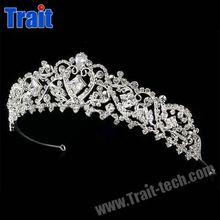 Religion Crown / Totem Pattern Diamond Pageant Crown / Alloy Bridal Tiara Crown