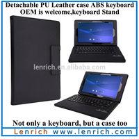 LBK915 High quality PU leather wireless detachable Bluetooth keyboard Portfolio Case stand for Sony Xperia Z2 Tablet