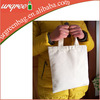 Small Zipper Cotton Canvas Tote Shopping Bags