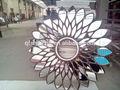 ديكور زجاج المرآة الإطار