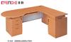 practical melamine office desk cherry color