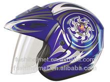 Purple paint base open face motorcycle helmet 887
