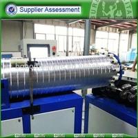 Pure aluminum flexible duct forming machine