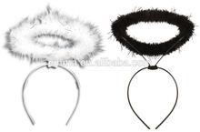 Angel Halo Headband Choose Black Or White Costume Hen Party ear H-1508