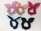 Best selling spot bow hair ponytail holder, scrungi