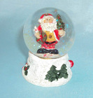 Customized christmas ornament snow water glass ball globe