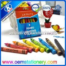 promotional jumbo crayon set for kids/8pcs jumbo craon set for kids