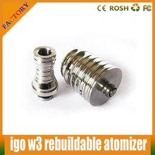 forshines wholesale 2014 hottest RDA With 510 Stainless Steel Drip Tip igo-w2 atomizer clone igo w3