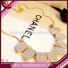 korea moda eski parlak kristal buzlanma kolye elmas