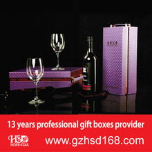 2014 hot sale clear wine glass packing box