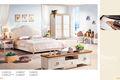 2014 natureza moderna confortável quarto jogo é feito pela madeira cinza branca