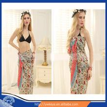 Promotional Chiffon Women Flower Sexy Sarongs Towel Beach Pareo