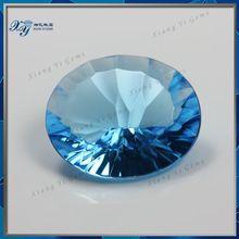 Aquamarine Gemstone Exporter,AAAAA Large Size Millennium Cut Oval Shape Aquamarine Crystal Glass Stone For Jewelry Decoration