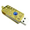 Gold Diamante metal mini swivel usb flash drive 8GB with free custom logo,jewelry swivel usb