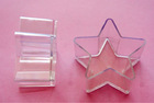 Hot pink star shape plastic pumpkin tealight candle holder container