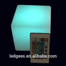 10cm RGB Color Change Night Club, Party LED Cube,waterproof illuminated led cube light gift