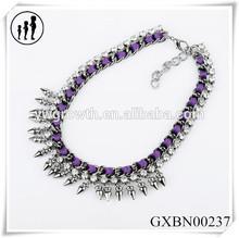 Fashion jewelry wholesale alloy multilayered set auger bands design retro women necklace