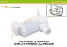 254A, water pressure washer pump 12v 24v dc for nissan blue fird sunny isuzu mercury windshield washer pump 28920-50Y00