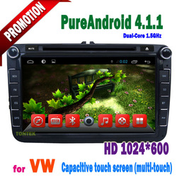"""Android4.1 vw Tiguan dvd player With Capacitive 8"""" touch Screen IPOD BT ATV 1GB DDR3 WIFI Radio AUX IN CAN BUS TA8051"""