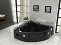 Preto banheira de hidromassagem de canto, como função acrílico banheira de hidromassagem, acrílico banheira de massagem