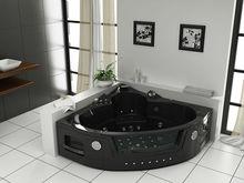 Black Corner Whirlpool, Como function Acrylic massage bathtub, Acrylic Massage Bath tub