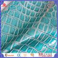 C002 turquesa cor de pele de crocodilo 70% 30% pvc polyster tecido