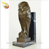 Antique Life Size Standing Bronze Owl Sculpture for Sale
