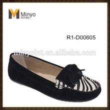 Minyo hot style zebra PU women casual slip-on loafer