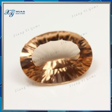 Alibaba Newst Type Beautiful Magical High Quality Large 13*18MM Millennium Cut Oval Champagne Nano Crystallized Glass Ornament