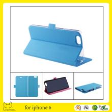 hot sale custom colorful flip leather case for i6