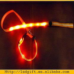 custom print logo dog leash led dog leash