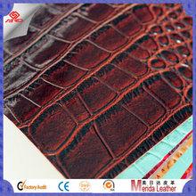 C180 Crocodile skin embossed pvc leatherette fabric