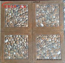 Wooden design 40x40cm floor tiles pebble stone design
