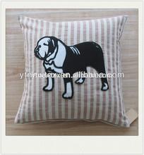 lovely dog applique cushion