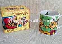 child used cartoon mug ceramic,kids used mug cup