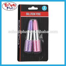 Fancy lipstick shape ballpoint pen for promotion