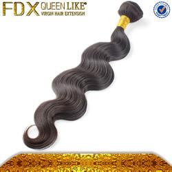 Nice weavon natural color body hair weft sealer