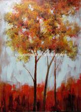 leaf canvas paintings landscape oil painting