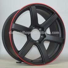 8 spoke white Aluminum alloy Wheel With Black Machined lip (ZW-S051)