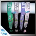 Custom slogan! Amostra grátis pulseira de tecido com deslizamento de bloqueio