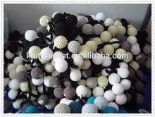 crochet ball chain decoration, cotton ball decoration, hanging ball decorations