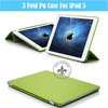 3-Fold Accurate Design Folding Standing Colorful PU Tablet PC Case For iPad5 U1706-139