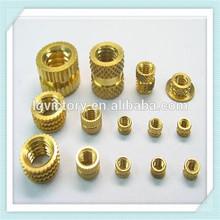 Customized Brass Inserts, Brass Nut, Heat Installation